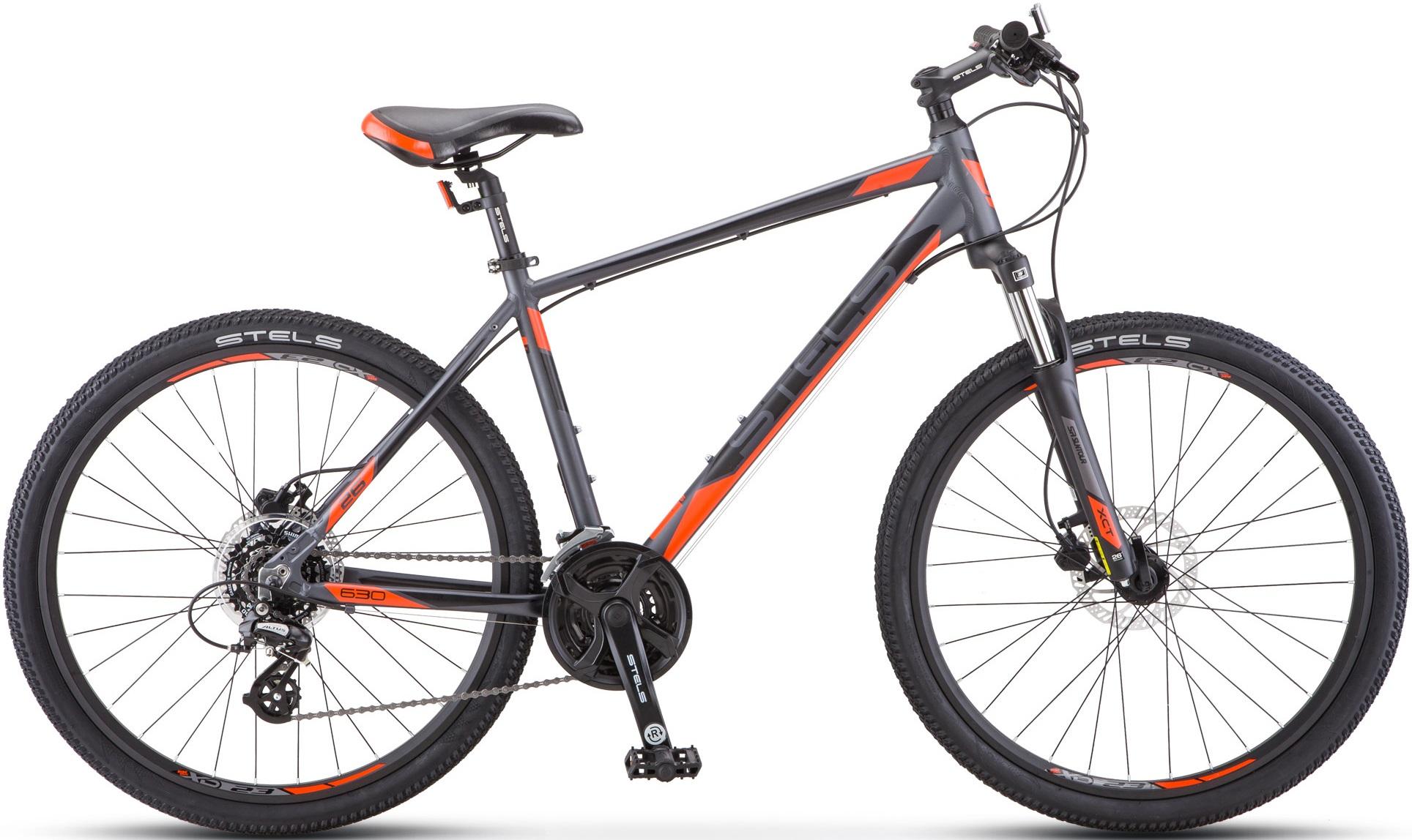 """Велосипед Stels Navigator 630 D К010 антрацитовый/красный 26""""/18"""""""