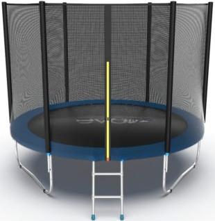 Батут Evo Jump External 10FT Blue (с внешней сеткой и лестницей)