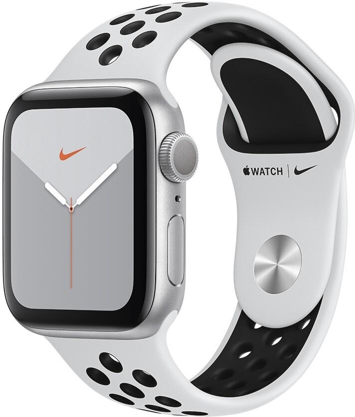 Умные часы Apple Watch Nike+ Series 5 40mm MX3R2 Silver/Pure Platinum Black