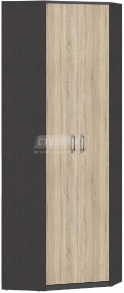 Шкаф Столплит Афина 009-296-800-5783 угловой венге/дуб сонома 220x76x76 см