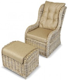 Кресло Kvimol KM-2000 бежевый (с подставкой)