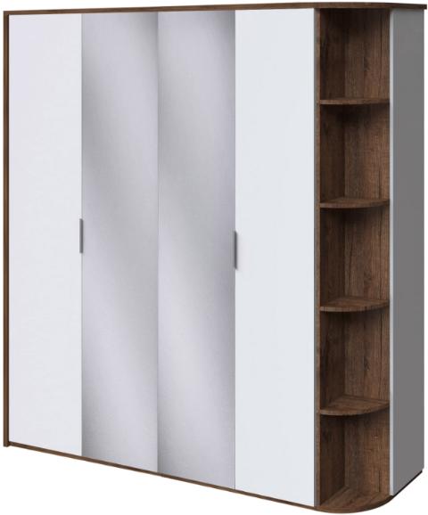 Шкаф Интердизайн Тоскано темно-коричневый/белый 221x207x60 см