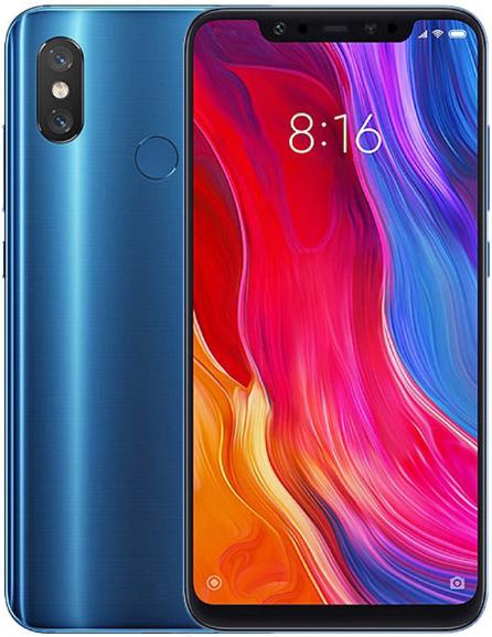 Смартфон Xiaomi Mi8 LTE 6Gb 256Gb Blue (версия CN)