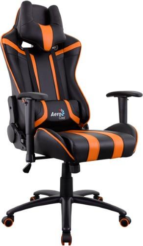 Игровое кресло Aerocool AC120 AIR-BO черный/оранжевый