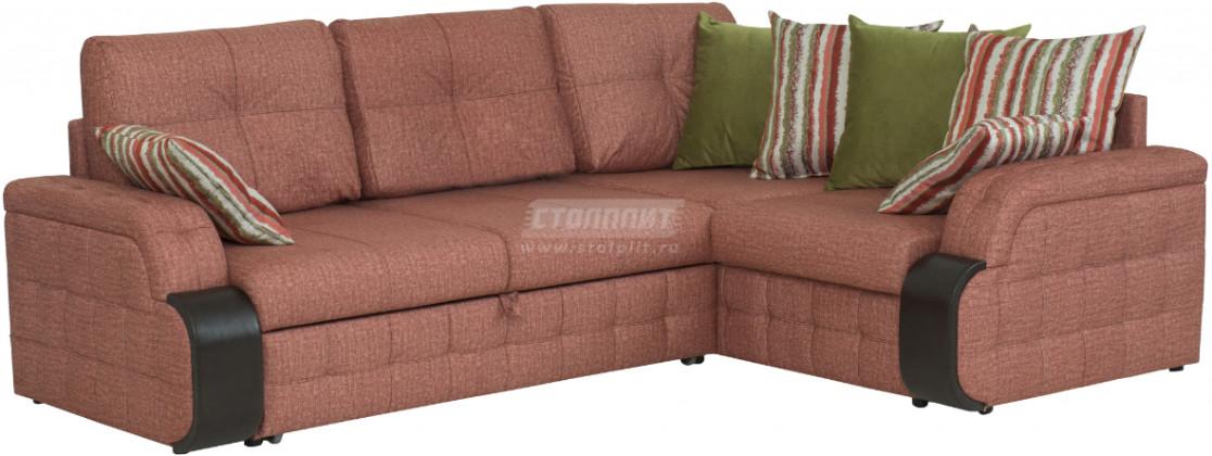 Диван-кровать Столплит Антей ДУ угловой терракотовый 247x183x91 см