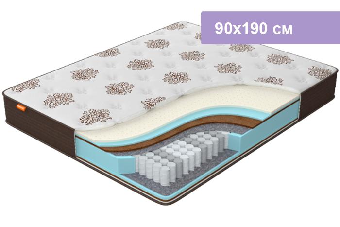 Матрас Орматек Comfort Duos Middle/Hard коричневый 90х190 см