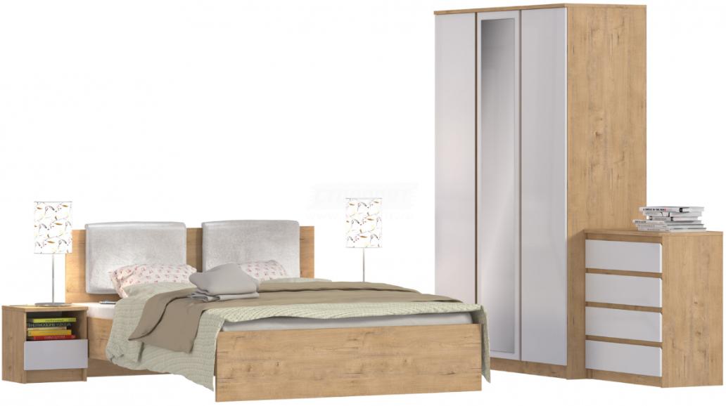 Спальня Столплит Веста 122-645-856-5700 дуб бунратти