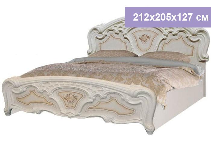 Двуспальная кровать Интердизайн Роза бежевый/бежевый 212x205x127 см (ортопедическое основание)