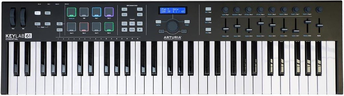 Миди-клавиатура Arturia KeyLab Essential 49 Black Edition