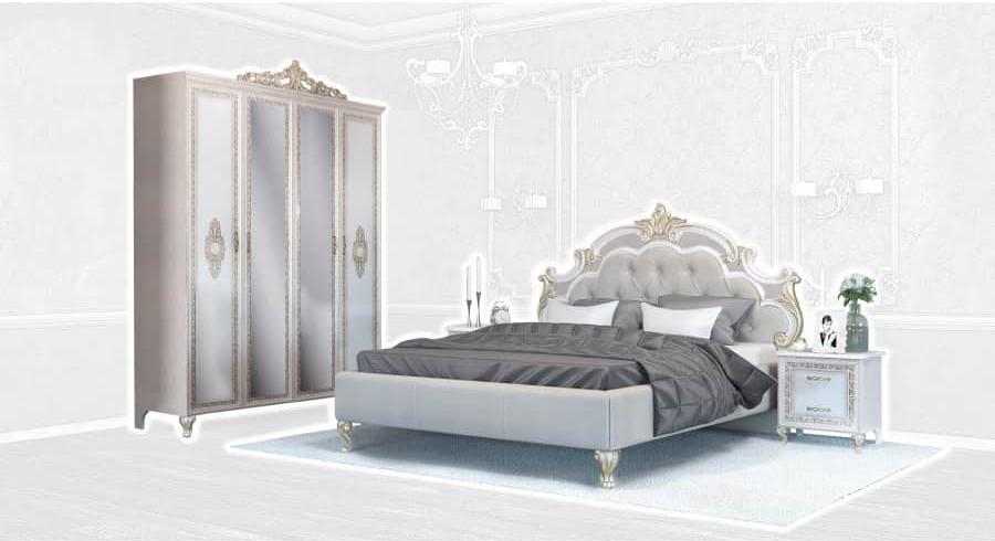 Спальня Интердизайн Медея бежевый/бежевый (композиция 2)