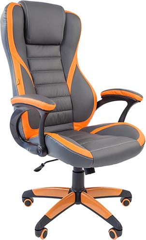 Игровое кресло Chairman Game 22 экокожа серый/оранжевый