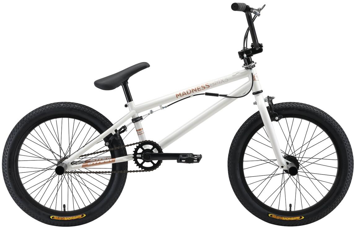 "Велосипед Stark Madness BMX 3 (2019) белый/золотистый 20""/-"