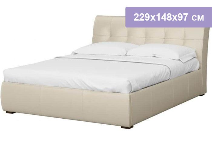 Двуспальная кровать Интердизайн Бьянка бежевый/бежевый 229x148x97 см (ортопедическое основание)
