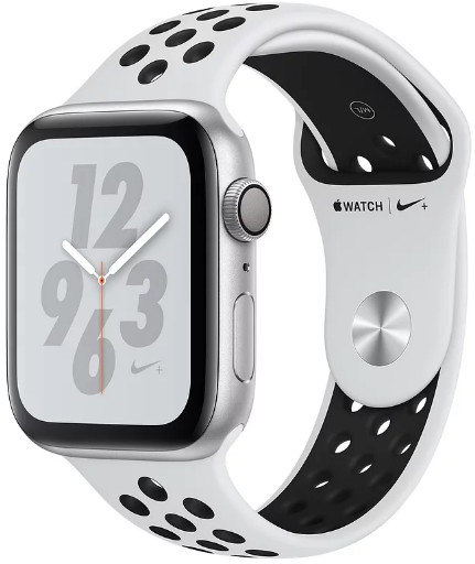 Умные часы Apple Watch Nike+ Series 4 44mm MU6K2 Silver/Pure Platinum Black
