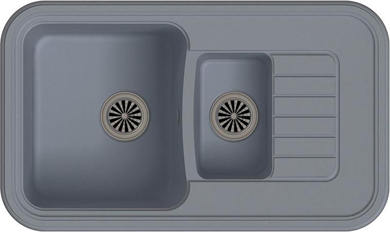 Кухонная мойка Ewigstein Antik А-60KF серый