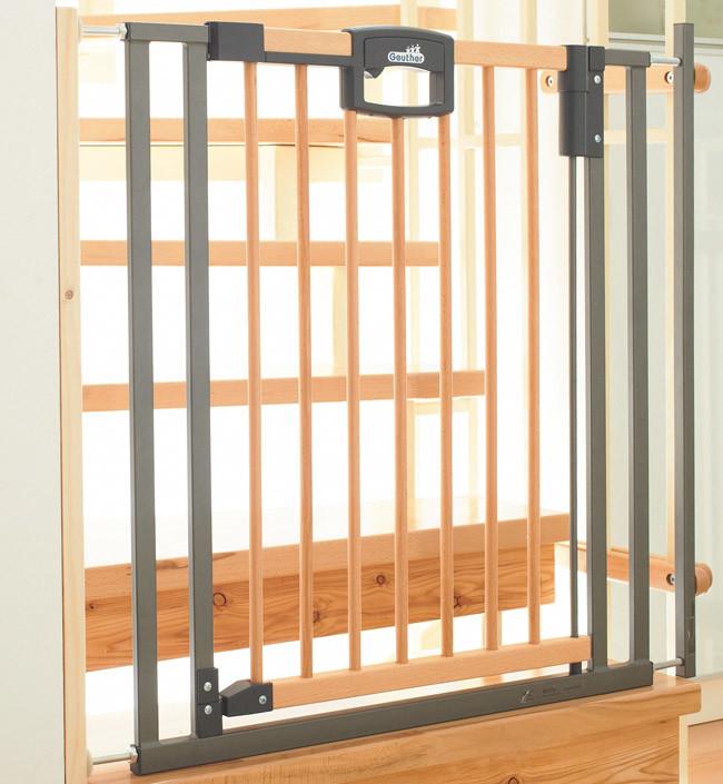 Ворота безопасности Geuther EasyLock Wood Plus дерево/металл