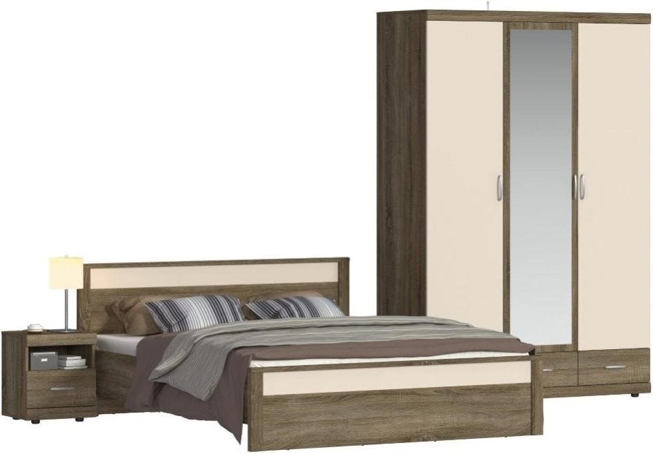 Спальня Столплит Монако 121-414-244-8353 дуб сонома трюфель/бежевый песок