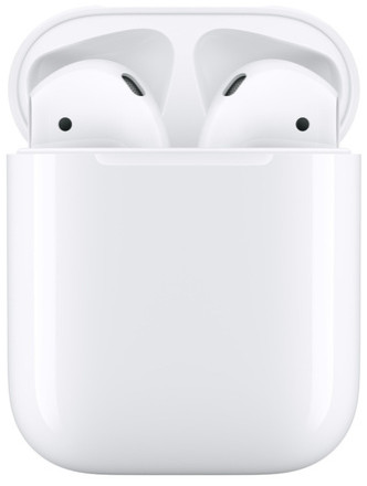 Наушники Apple AirPods 2 2019 Gloss White + футляр