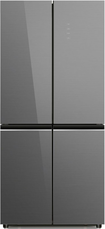Холодильник Ginzzu NFK-525 Grey Glass