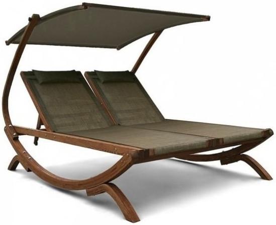 Шезлонг-лежак Афина-Мебель AFM-510 оливковый