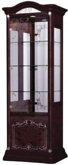 Витрина Интердизайн Роза 37.102.Mh темно-коричневый/темно-коричневый 2090x755x530 см (левая)