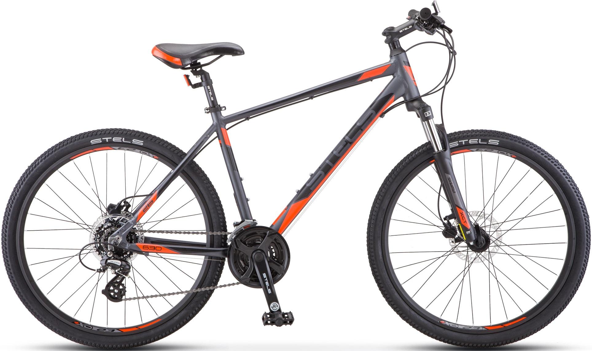 """Велосипед Stels Navigator 630 D К010 антрацитовый/красный 26""""/16"""""""
