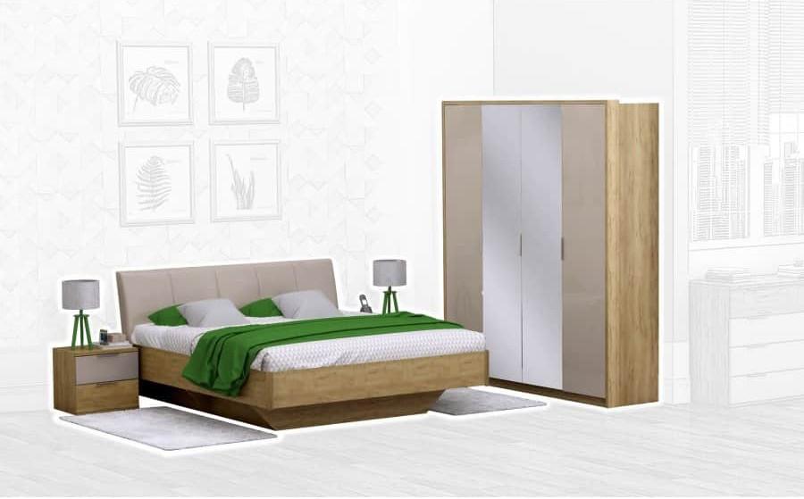 Спальня Интердизайн Тоскано дуб крафт/капучино (композиция 2)