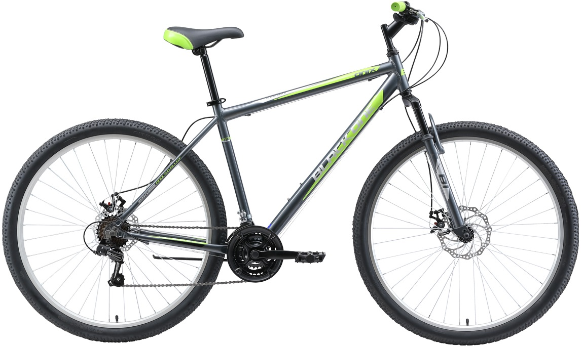 """Велосипед Black One Onix 29 D Alloy (2019) серый/зеленый/черный 29""""/20"""""""