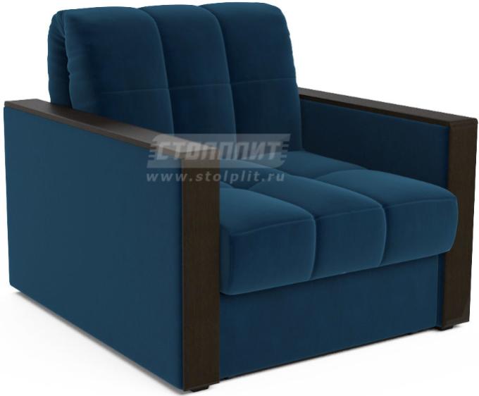 Кресло-кровать Столплит Даллас темно-синий/Luna 034 105x88x83 см
