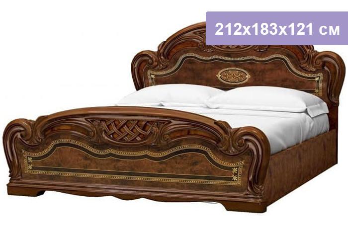 Двуспальная кровать Интердизайн Лара коричневый/коричневый 212x183x121 см (ортопедическое основание)