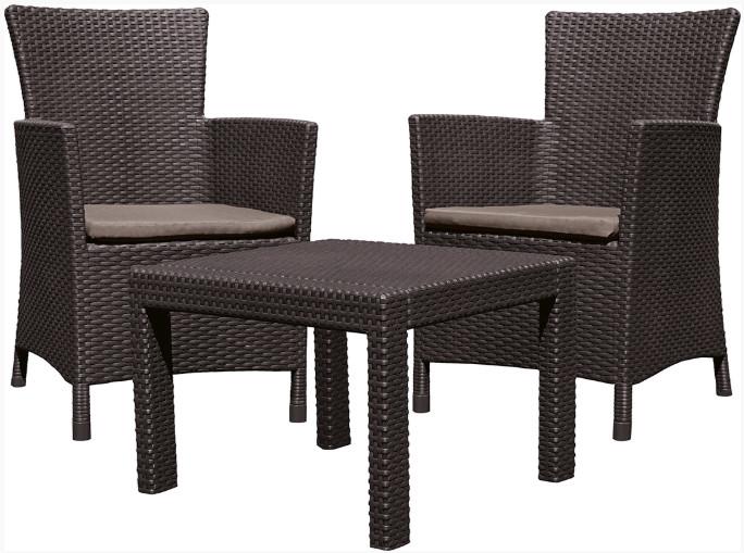 Комплект мебели Allibert Rosario Balcony коричневый/серый/бежевый