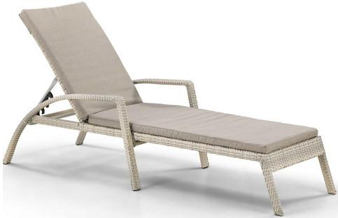 Шезлонг-лежак Афина-Мебель A30C2-W53 латте (матрас)