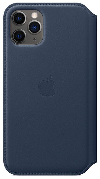 Чехол Apple iPhone 11 Pro Leather Folio Deep Sea Blue