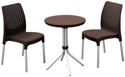 Комплект мебели Allibert Chelsea виски коричневый