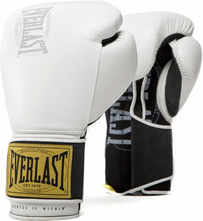 Перчатки Everlast 1910 Classic 12oz White (на липучке)
