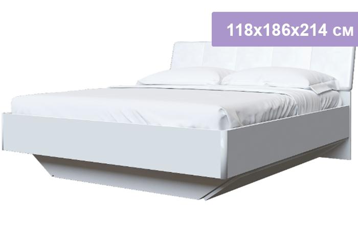 Двуспальная кровать Интердизайн Белла New белый/белый 118x186x214 см (ортопедическое основание)