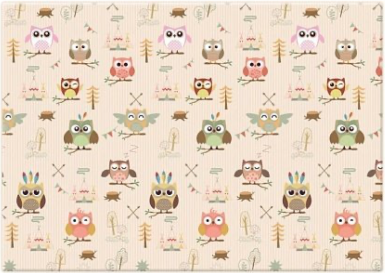 Ковер FunnyLon Owls White/Grey 140x200 см