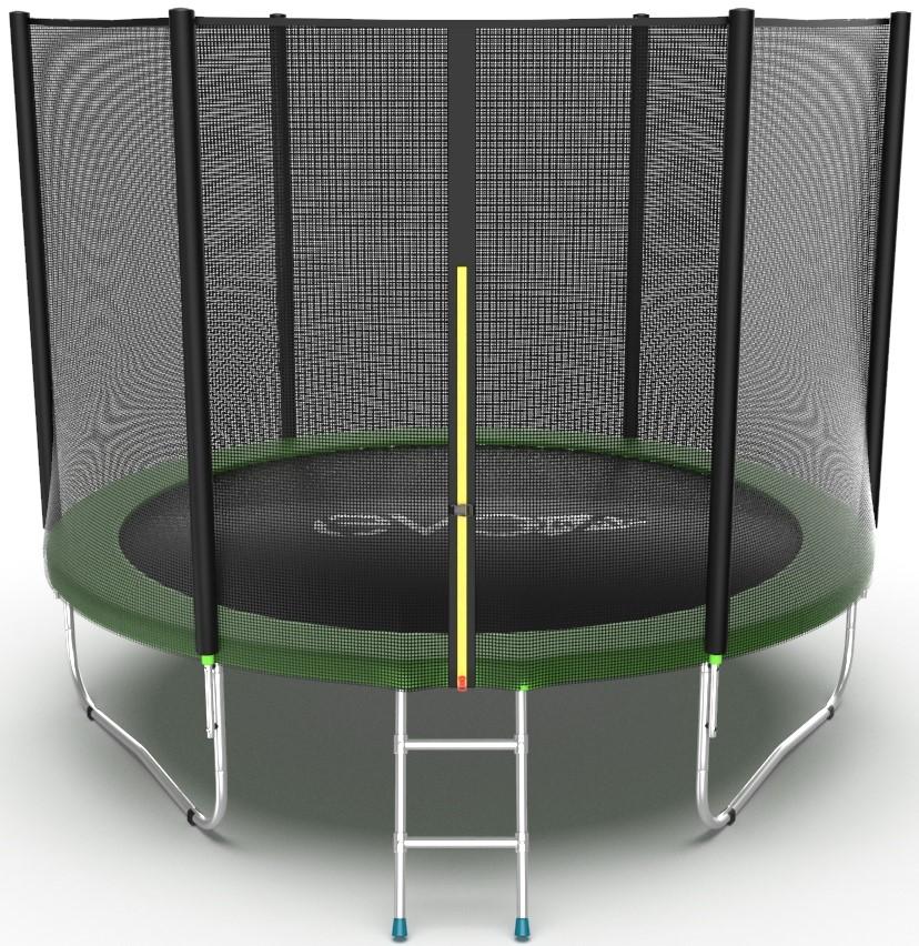 Батут Evo Jump External 10FT Green (с внешней сеткой и лестницей)