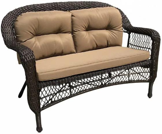 Диван Афина-Мебель LV520-1 коричневый/бежевый