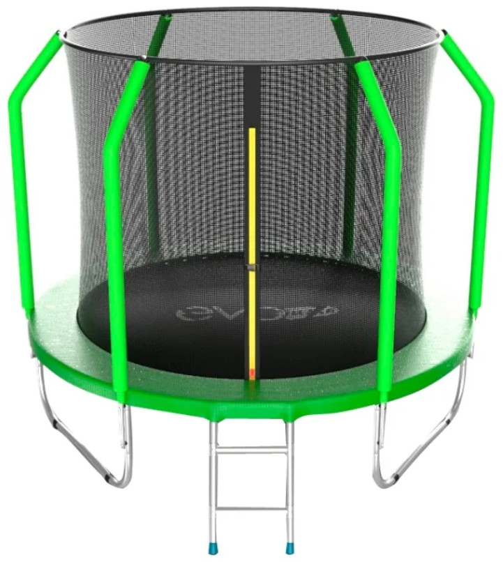 Батут Evo Jump Cosmo 8FT Green (с внутренней сеткой и лестницей)