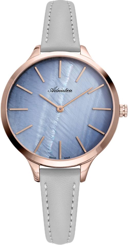 Наручные часы Adriatica Essence A3433 перламутровый синий/кожаный