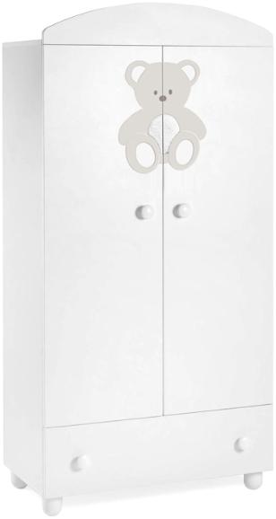 Шкаф Italbaby Peluche белый с кремовым …