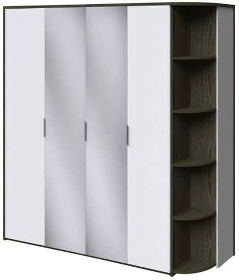 Шкаф Интердизайн Тоскано ясень темный/белый 2209x2070x599 см