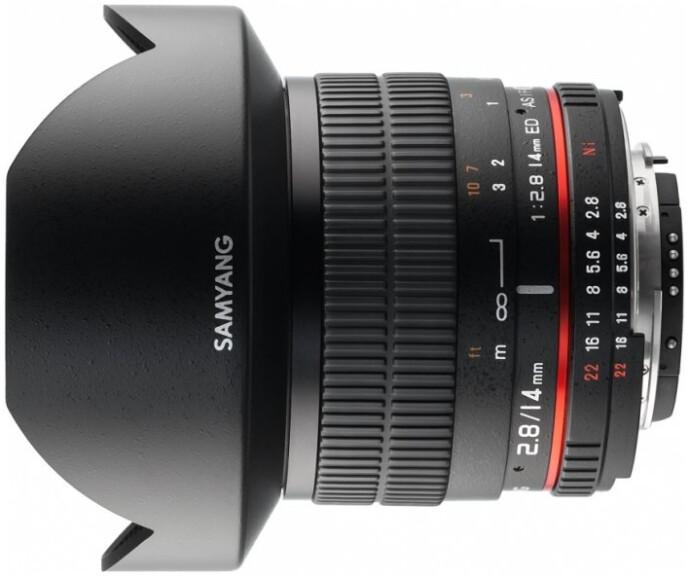 Объектив Samyang 14mm f/2.8 ED AS IF UMC Aspherical AE Nikon F Black