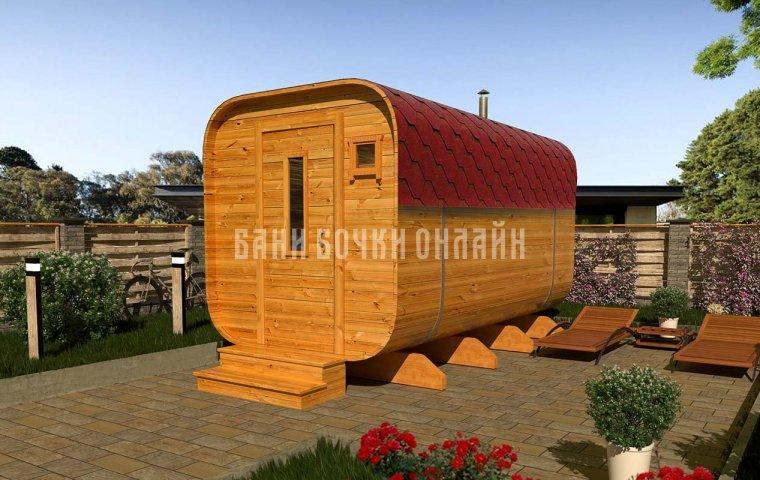 Баня-квадробочка «Люкс» 400x217x217 см