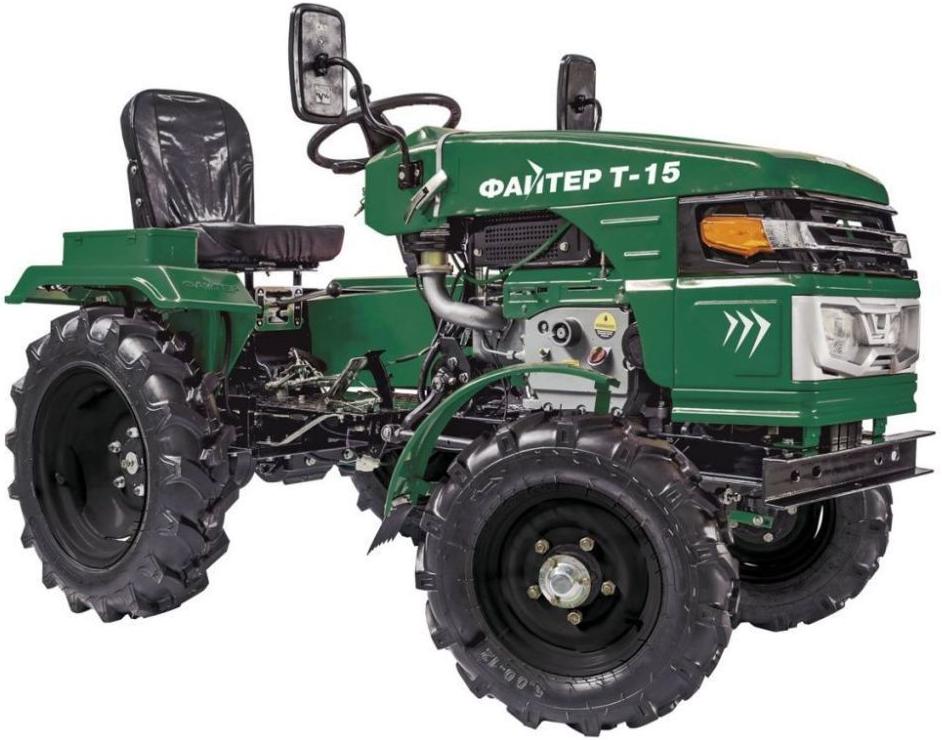 Мини-трактор Файтер Т-15 (с почвофрезой)