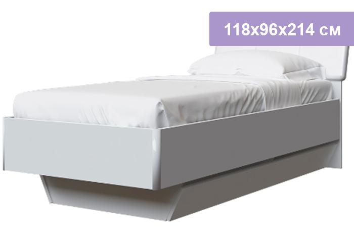Односпальная кровать Интердизайн Белла New белый/белый 118x96x214 см (ортопедическое основание)