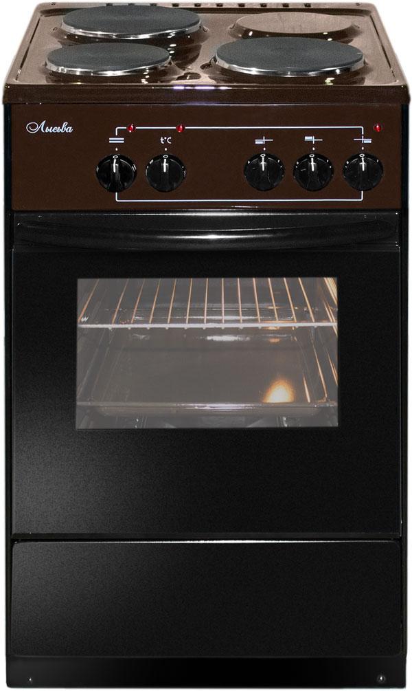 Плита Лысьва ЭП 301 коричневый, без крышки