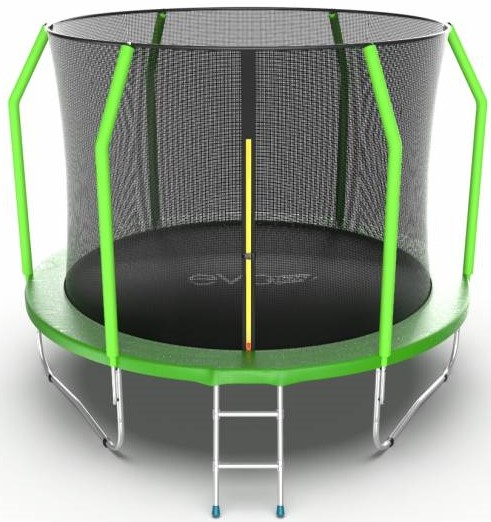 Батут Evo Jump Cosmo 10FT Green (с внутренней сеткой и лестницей)