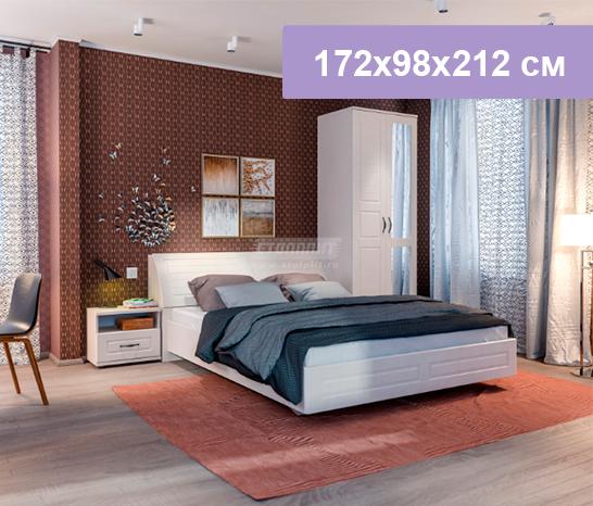 Двуспальная кровать Столплит Сити СБ-2947 бежевый песок/кофе 172x86x239 см